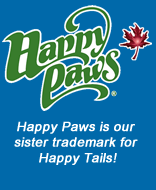 Happy Paws is our sister trademark for Happy Tails